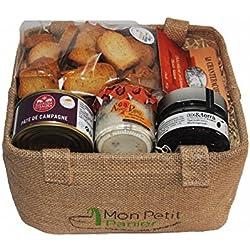 Cesta de regalo Aperitivo - Set 1 - delicatessen productos - 100% francesa