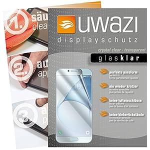 Samsung Galaxy A8 (2016) Schutzfolie 5x uwazi glas-klare Displayschutzfolie Folie