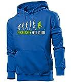 love-all-my-shirts Eishockey Evolution 528 Wintersport Herren Hoodie Blau Aufdruck Grün M