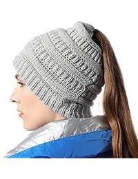 FLY HAWK Cappello Sciarpa Anello in Maglia Invernali da Donna - Berretto  Beanie Sciarpa Loop Knit in Peluche Caldo per Bambina Cappello… 400f16fbba31