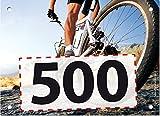 500 Startnummern Mountainbike, Papier classic-race, Format 20 x 14,5 cm (ca. DIN A5), nummeriert von Nummer 1