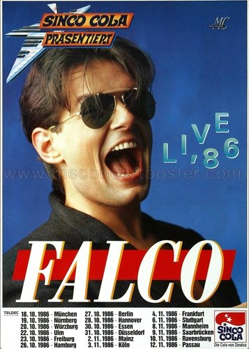 falco poster Falco - Live (1986) - Konzertplakat, Konzertposter