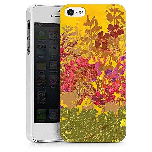 Apple iPhone X Silikon Hülle Case Schutzhülle Sonnig Blumen Muster Hard Case weiß