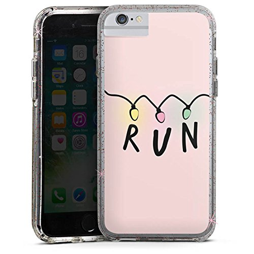 Apple iPhone 6 Plus Bumper Hülle Bumper Case Glitzer Hülle Run Serien Lichterkette Bumper Case Glitzer rose gold