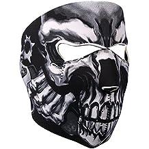 Lmeno® Unisex Antipolvere e Antivento Neoprene pieno volto cranio maschera passamontagna assassino scheletro inverno faccia balaclava viso scaldacollo mask cappello Collo Scaldino per snowboards moto biker sport esterno