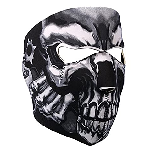 Lmeno Neoprene Assassin Skull Full Face Mask Reversible Biker Snow
