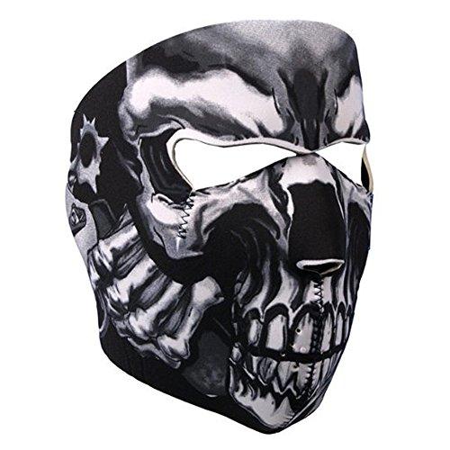Lemon Neopren Vollgesichts Maske Assassin's Skull Face Mask Ghost Style Airsoft Paintball Gesichtsmaske Gesichtsschutz Masken Kälteschut Totenkopfmotivoard Outdoor Skifahren Schnee Surfen Snowboard (Damen Snowboard Face Bandana)