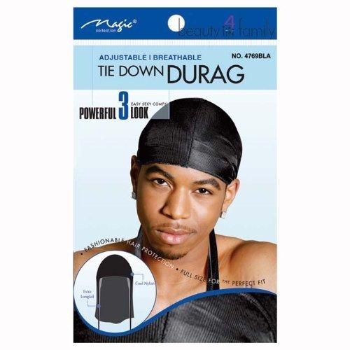Magic Tie Down Durag No.4769BLA by Bee Sales