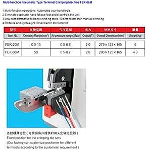 SINOSHON FEK-06M multifonctions pneumatique de type Terminal machine de rabattement -in Pince