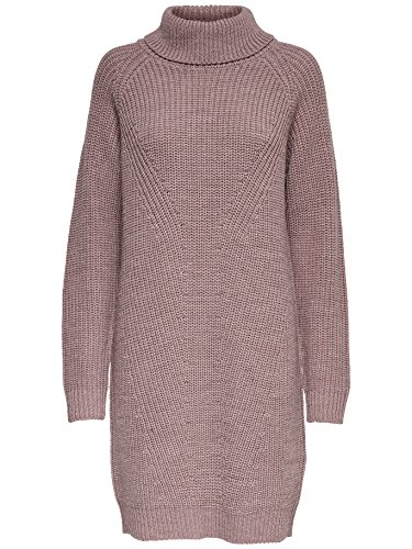 JACQUELINE de YONG Strickkleid Kleid mit Rollkragen JDYJUSTY DRESS KNIT 15138661 rose taupe Gr.XL
