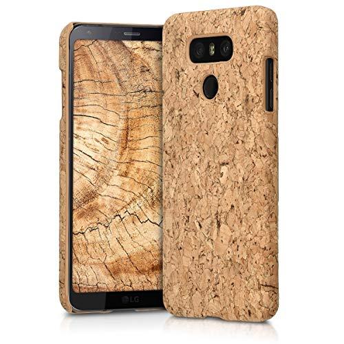 kwmobile cover in sughero per lg g6 - backcover protettiva - case protezione rigida smartphone lg g6