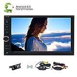 Freies Geschenk: Wireless-Kamera !! In Dash Eincar Android 6.0 Eibisch Auto-Stereo 7inch Doppel-DIN-GPS-Einheit Navigation Autoradio Quad-Core-Video 1080P Player Bluetooth FM-RDS-Empfänger Wifi OBD Kopfes