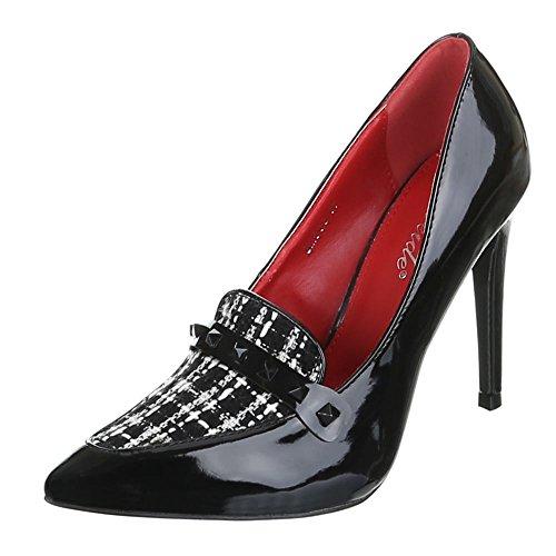 Ital-Design, Scarpe col tacco donna Nero (nero)