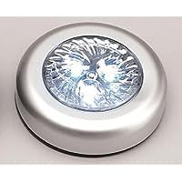 F-Bright Led - Push light 3 leds plata