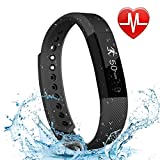 LETSCOM Fitness Tracker HR, Bluetooth Fitness Watch with Heart Rate Monitor, Step Counter