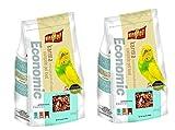 Vitapol Economic Bird Food for Budgies Bag (1200 g) - Pack of 2