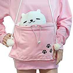 Japanese Style Pullover Big Kangaroo Pouch for Small Cat Dog Pet Hoodie Sweater