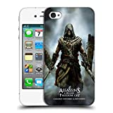 Head Case Designs Offizielle Assassin's Creed Edward Freedom Cry Schwarze Fahne Schluessel Kunst Ruckseite Hülle für iPhone 4 / iPhone 4S