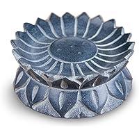 Räucherstäbchenhalter Sonnenblume Ø 7,5 cm aus Speckstein grau, Räucherhalter Stäbchenhalter Halter zum Räuchern... preisvergleich bei billige-tabletten.eu