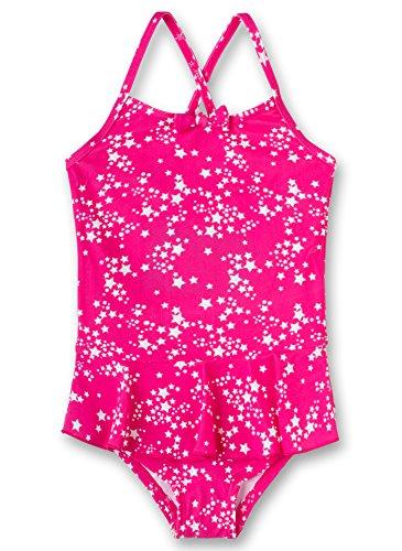 Sanetta Mädchen Swimsuit Badeanzug, Rosa (Heavy Pink 3875), 128