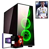 DILC FIFA CON LICENZA WINDOWS 10 PRO   PC DESKTOP GAMING   ASSEMBLATO COMPLETO   BUNDLE SERIES   COMPUTER FISSO Amd FX-8300 OCTA-CORE 4.2 GHZ   SK VIDEO GTX 1050 2GB   RAM 8 GB   HARD DISK 1 TB   MASTERIZZATORE   USB 3.0   700W HALF-MODULAR   VENTOLA LED GREEN   FIFA 18 ORIGINALE