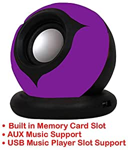 Portable Mini Speaker Supports with Memory Card/USB/AUX Function Compatible For Alcatel OneTouch Go Play-PURPLE
