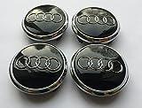 Radkappen, für Audi, 77mm, Legierung, Schwarz, für S3/S4/A3/A4/A6/A8/TT/RS4/Q3/Q5/Q7