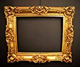 Barock Bilderrahmen Gold 60x70/ 40x50 cm (Antik) Im Retro-Vintage look durch Handarbeit hergestellt für Künstler, Maler. Idealer Gemälde-Rahmen für Ausstellungen STAR-LINE® -