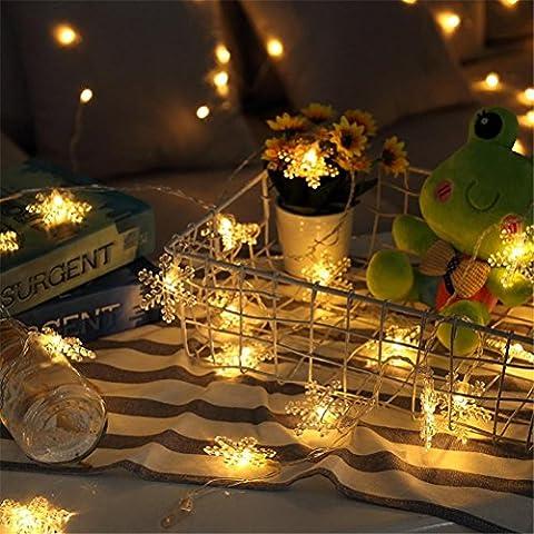 ZYY&LIGHT® Lichterketten Schneeflockenlichter Vorhang Lichter für Weihnachtsschmuck Hochzeit Mädchen Schlafzimmer Garten Hof Baum Fenster Indoor und Outdoor , 4.5m-30