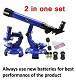 #8: Wishkey 2 in 1 Science Astronomy Learning & Educational Telescope and Microscope Set