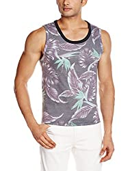 Breakbounce Mens Cotton Vest (8907066089463_Manyara_Medium_Clair Black and Grey)