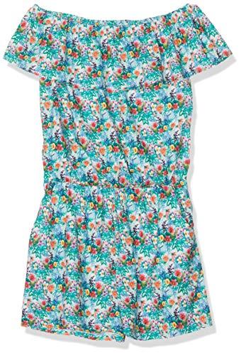 NAME IT Mädchen NKFJESSAMINE OFFSHOULDER PLAYSUIT Overall, Mehrfarbig (Bright White), (Herstellergröße: 134) -