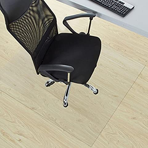 etm® Clear Chair Mat for Hard Floors, Ultra Transparent PVC