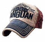 Elwow Baseball-Cap aus Baumwolle, Vintage-Design, atmungsaktiv, mit verstellbarem Riemen