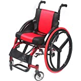 HSRG Silla de Ruedas Plegable Deportiva, Aleación de Aluminio Liviana con Respaldo Plegable para Silla de Ruedas Manual para niños discapacitados, Capacidad 100 kg