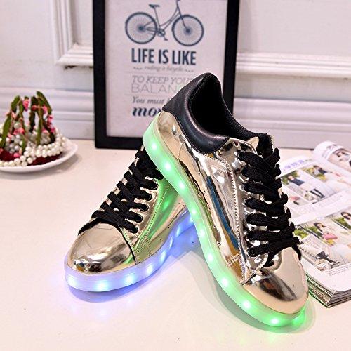 Paar Und Sch lade Handtuch Leuchtende Schuhe bunte Leuchten Led Silberne Freizeitschuhe Weibliche C1 Usb lichter Neuen Männliche kleines XgRCxwUZU