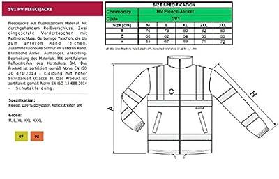 Warnschutzkleidung HV Fleece Jacke mit Reflektoren Damen Fleecejacke - Größe und Farbe wählbar -men