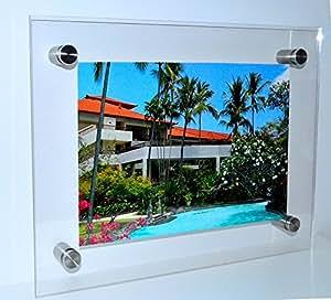 premium bilderrahmen aus acrylglas rahmenlos bildhalter fotorahmen urkundenrahmen clip. Black Bedroom Furniture Sets. Home Design Ideas
