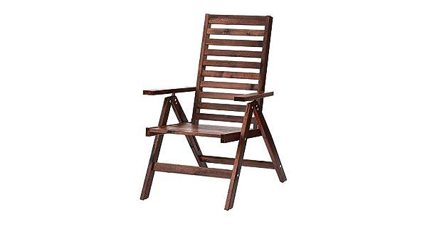 Phenomenal Ikea Applaro Reclining Chair Outdoor Brown Foldable 702 085 Machost Co Dining Chair Design Ideas Machostcouk
