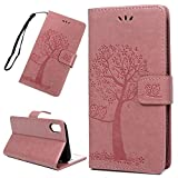 ACE Bilon iPhone 9 Plus Hülle,Luxus PU Ledertasche Brieftasche Flip Case Cover Schütz Hülle mit Standfunktion und Card Holder Abdeckung Ledertasche für iPhone 9 Plus Rosa