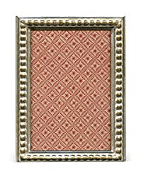 Cavallini Papers Florentine Frame, 4 by 6-Inch, Romano Silver