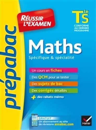 Maths Tle S spécifique & spécialité