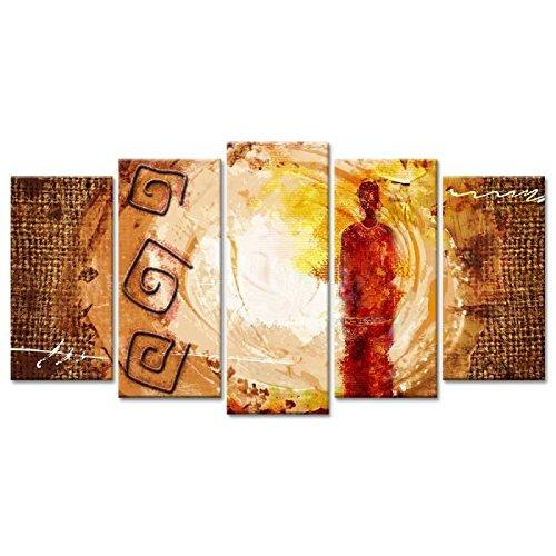 AFRIKA Tableau multi panneaux 150x80 cm beige
