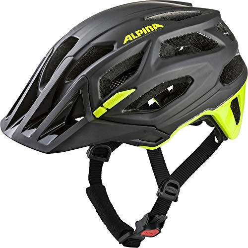 Alpina Unisex– Erwachsene GARBANZO Fahrradhelm, Black-neon-Yellow, 57-61 cm