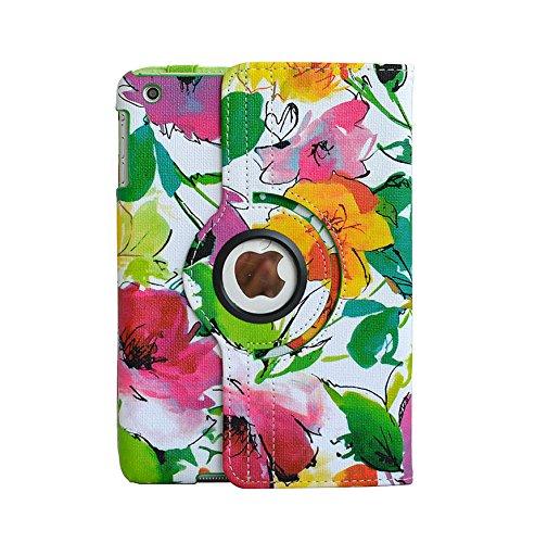 inShang Hülle für Apple ipad mini 3 mini 2 mini 1, Edles PU Leder Tasche Hülle Skins Etui Schutzhülle Ständer Smart Case Cover für Tablet iPad, Super Automatische Einschlaf-/Aufwach funktion, 360 Grad rotierende + Normal Stylus
