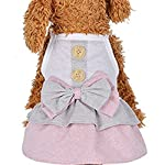 sunnymi Button Skirt Dress Fashion Small Dog Cat Vest Lovely Small Puppy Pet Dog Cat Classic Clothes Costume Apparel for Walking Jogging