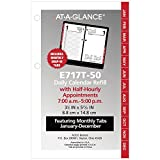 """AT-A-GLANCE Daily Desk Calendar Refill with Monthly Tabs, January 2019 - December 2019, 3-1/2"""" x 6"""", Loose Leaf (E717T50)"""