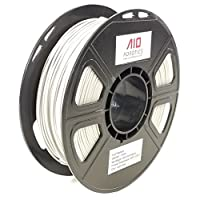 AIO Robotics Premium 3D Printer Filament, PLA, 0,5 kg PLA, Diameter 1,75 mm, Bright / Light Grey