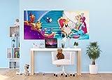 AG Design FTDH 0664  Aschenputtel Disney Princess Prinzessin Cinderella Papier Fototapete für Kinderzimmer, mehrfarbig, 202 x 90 cm