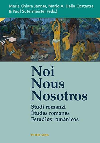 Noi  Nous  Nosotros: Studi romanzi  Études romanes d'occasion  Livré partout en Belgique
